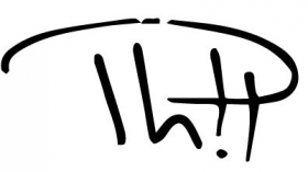 Phil Musique - Logo de Phil (Noir sur blanc)