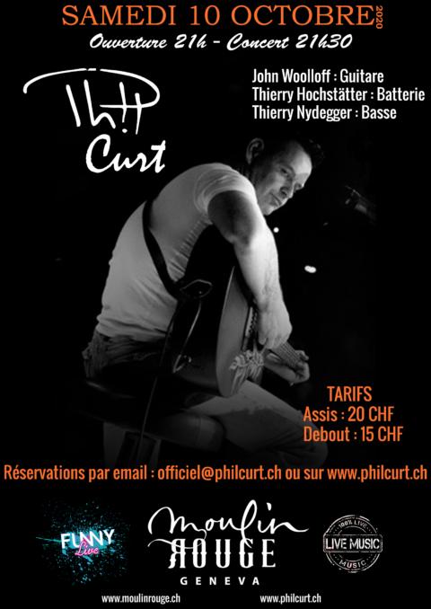 Affiche Concert Phil Moulin Rouge 10 Ocotbre